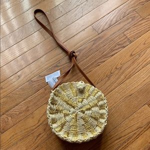 American Eagle Straw Crossbody Purse 💛